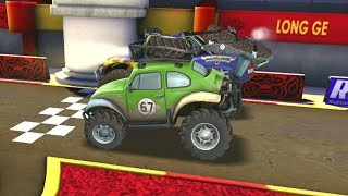 Mini Shifty Vs Monster Car & Lightning Mcqueen Disney Cars Racing Gameplay