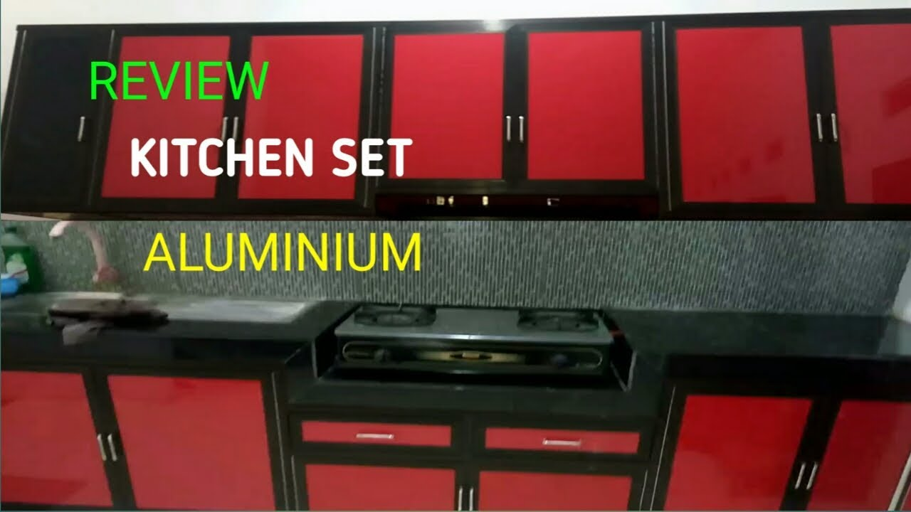 Review Kitchen Set Aluminium Acp Lemari Dapur Minimalis Youtube