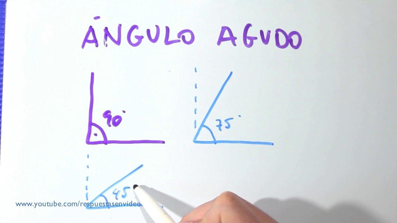 3b30d2a21e Qué es un ángulo agudo - Cuál es, definición, dibujos y ejemplos - YouTube