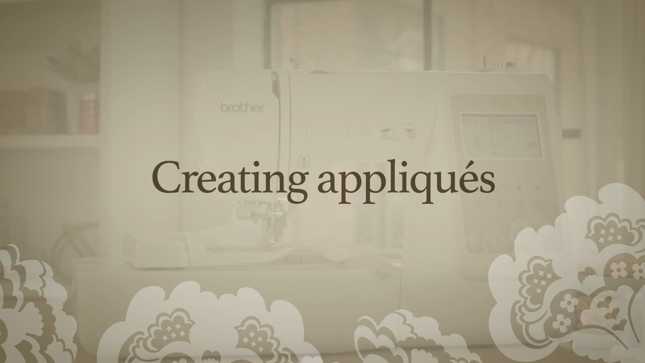 Brother se features creating embroidery appliques youtube