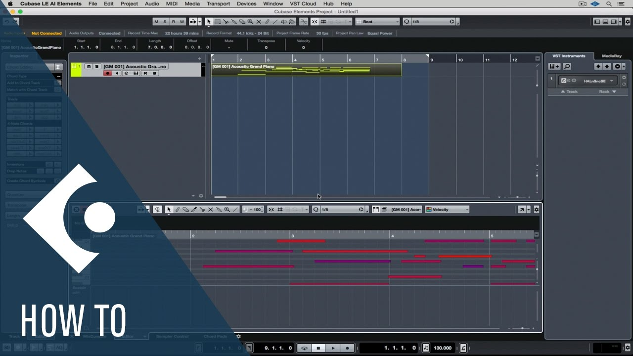 how to use midi in cubase le ai elements getting started with rh youtube com steinberg cubase le 4 manual steinberg cubase elements manual