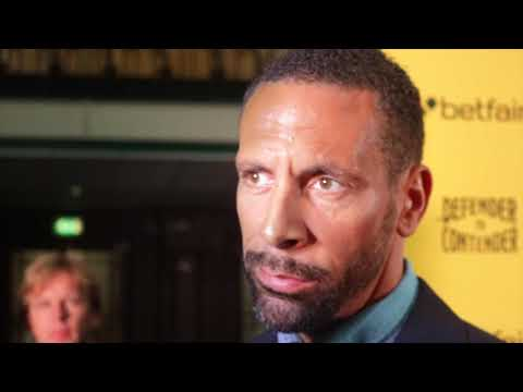 RIO FERDINAND -'THIS IS NOT A CIRCUS, IVE GOT UPMOST RESPECT FOR BOXING, IM NOT DISRESPECTING IT'