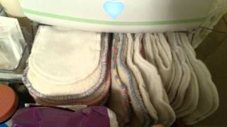 Changing Table Setup With Cloth Diapers