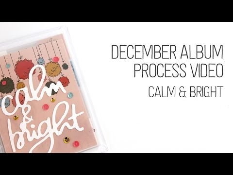 December (not quite) Daily Album Title Page Process – Feed Your Craft