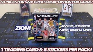 *50 PACKS FOR $60! NICE CARDS \u0026 VALUE!* 2019-20 Panini NBA Sticker Collection Basketball Box Break