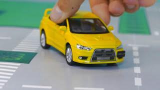Мультик про машинки - 235 серия:  Полицейская погоня, Гоночная машина, Кинетический песок, Эвакуатор