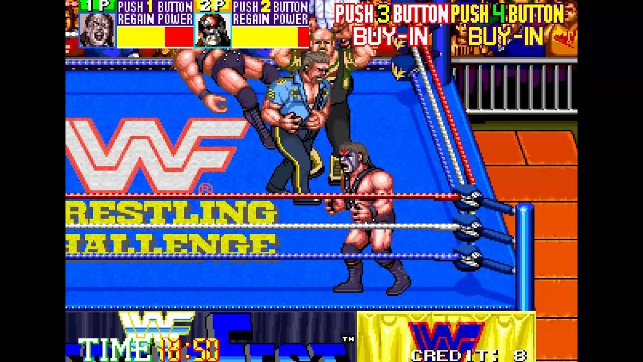 Espectaculo En Estado Puro Jugando A Dobles Wwf Wrestlerfest Mame