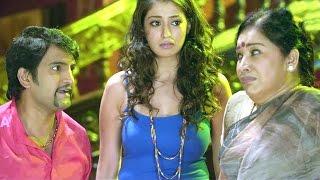 Chandrakala Comedy Scenes - Santhanam Gastric Drama Scene - Lakshmi Rai
