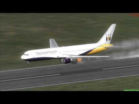 767-300ER Crash Landing Delhi India
