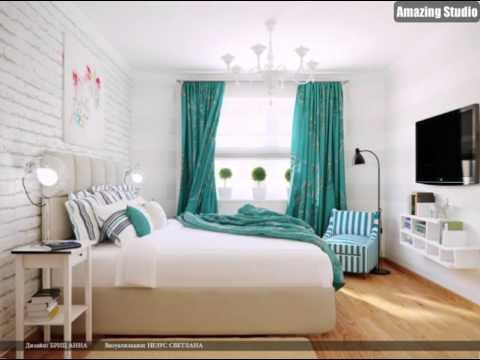 Türkis weiße Streifen Schlafzimmer - YouTube