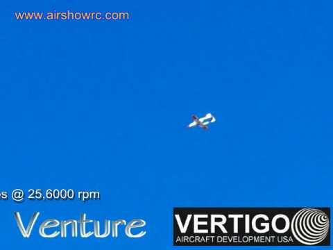 Bob's 2nd VERTIGO Venture flight Dynamax Hacker AirShowRC.com