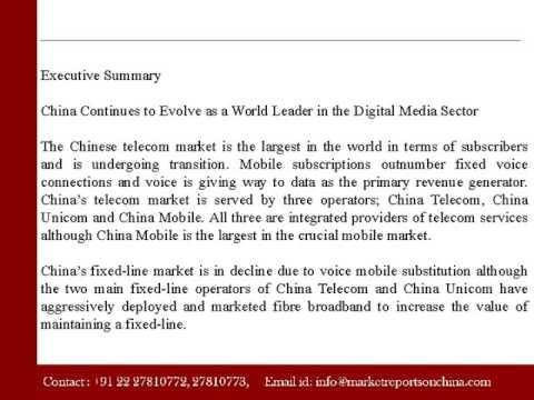 China - Telecoms, Mobile, Broadband and Digital Media