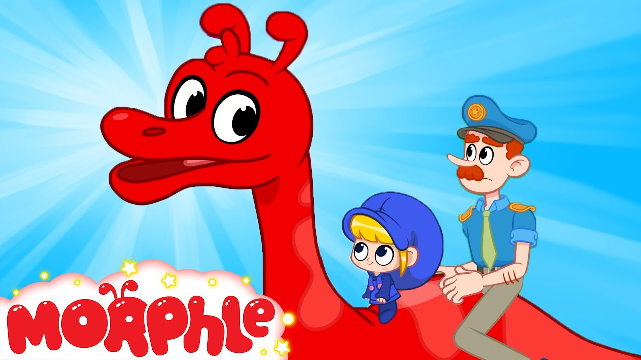Morphle's Dinosaur Day in the City - T Rex, Triceratops   Cartoons and Kids Videos