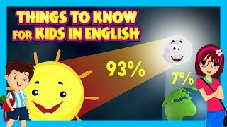 Things To Know For Kids In English - Education Time For Kids || Learn With Fun - Science For Kids