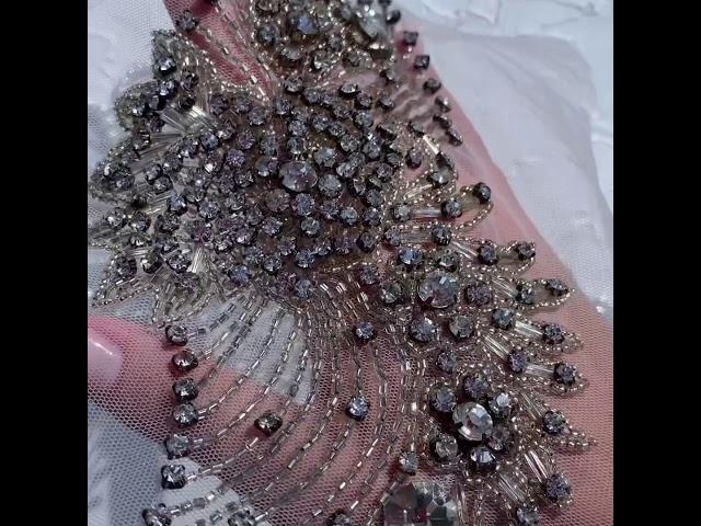 Вышивка люневильским крючком для свадебного платья