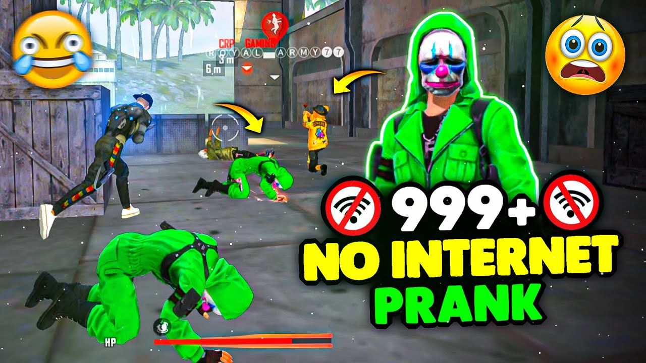FUNNY GREEN CRIMINAL NO INTERNET PRANK IN CLASH SQUAD? MUST WATCH - GARENA FREE FIRE