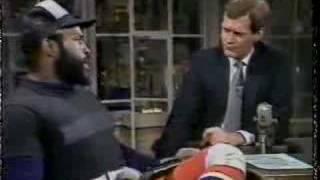 Mr. T on David Letterman (Part I)