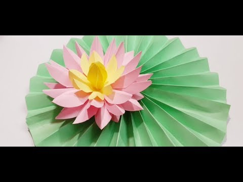 DIY How to Make Most Beautiful Lotus/ Water Lily With Paper| Paper Craft| Paper Tutorial| Easy