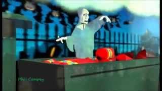 Lustige Karikaturen. Ghost Train. Cartoon-Geister-Züge. Neue Filme, die Besten CGI Kurzen Animierten Film