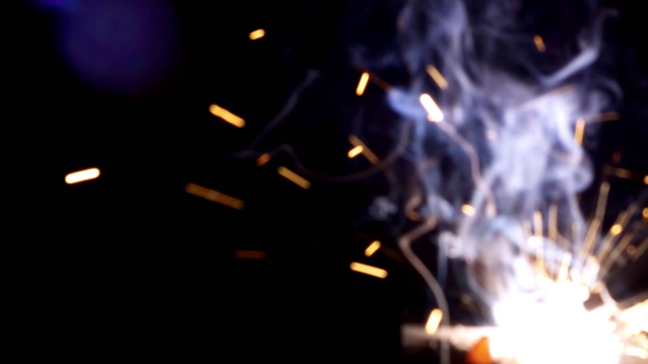 Welder Sparks Fire - Free Overlay Stock Footage