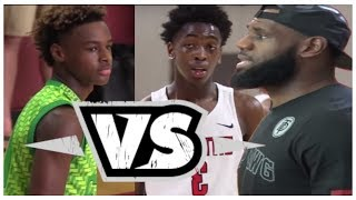 Lebron James Jr vs Zaire Wade!!! Bronny Is A Young GOAT!