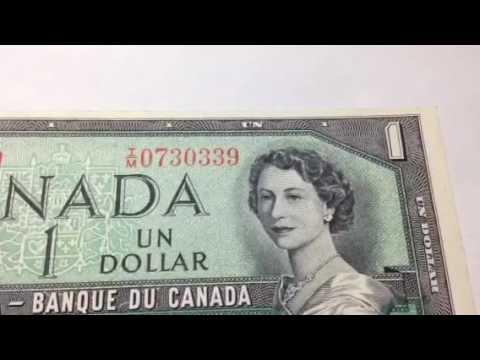 Canada One Dollar: 1954