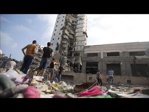 GazaHighRisesDestroyedinIsraeliAirstrikes