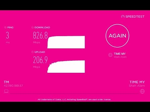 TM Unifi - Turbo Upgrade 800mbps   Speedtest + P2P