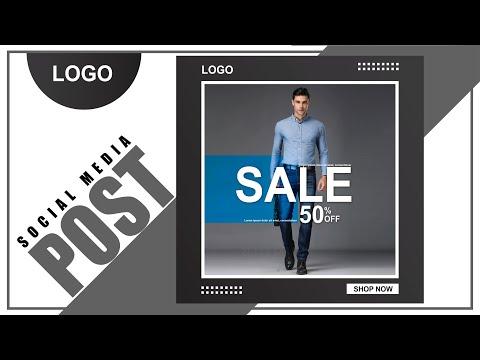 Adobe illustrator 2020 tutorial - How to Make   Social Media Fashion Post