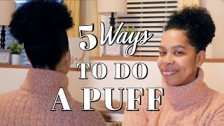 How to Do A Natขral Puff! (5 Ways to Do Your Poof)