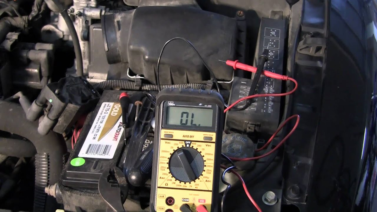 how to check resistance with a multimeter automotive coil example rh youtube com Antique Car Wiring multimeter setting for car wiring