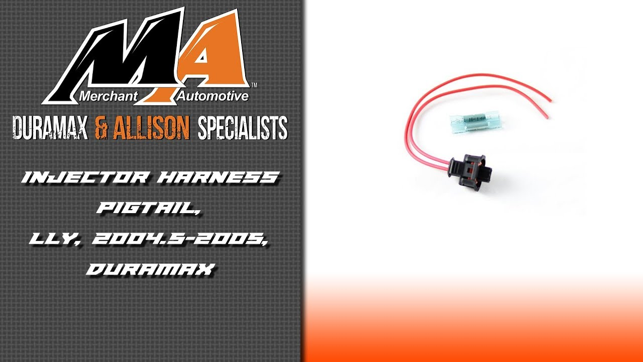 product spotlight lly injector harness pigtail 2004 5 2005 duramax [ 1280 x 720 Pixel ]