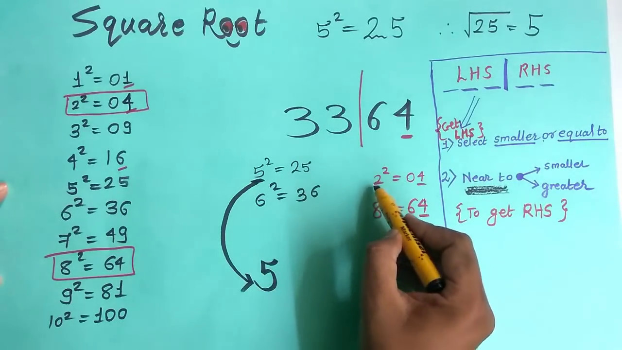 How to find Square Root Easily In Hindi :MATHS TRICKS - YouTube