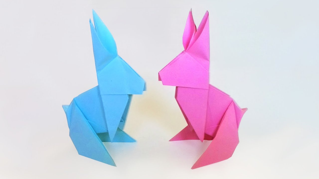 Diy Origami Lapin Tuto Facile Pour Les Fabriquer Un Jour Une Idee