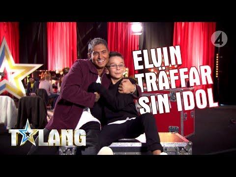 8-åriga Elvin överraskas av sin stora idol