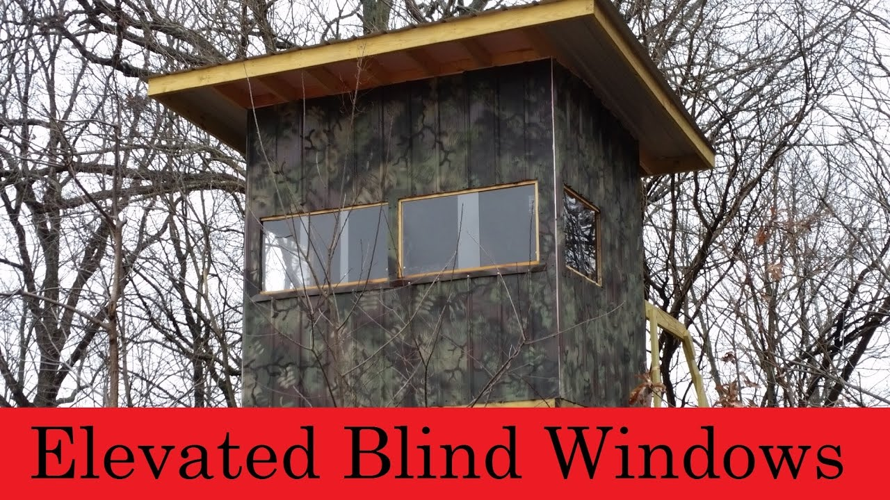 Homemade deer blind windows homemade ftempo for Building deer blind windows