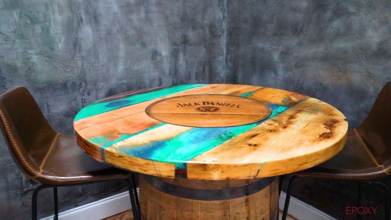 barrel epoxy table