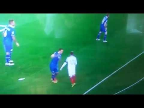 Wayne Rooney punches Gylfi Sigurdsson