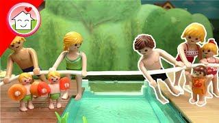 Playmobil Film Familie Hauser - Pool Party - Welche Familie gewinnt? - Spielzeug Video für Kinder
