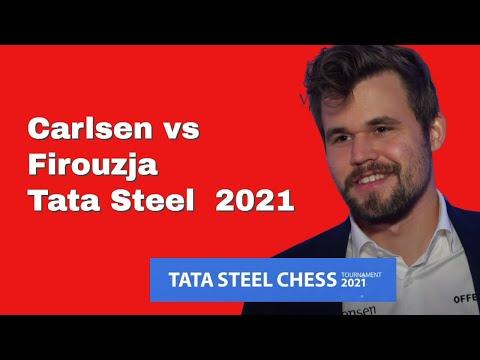 Queen's Gambit Does It Again | Magnus Carlsen vs Alireza Firouzja: Tata Steel Chess Tournament 2021