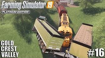 Train Wreck!!! | Gold Crest Valley | Timelapse #16 | fs19 | Farming Simulator 19