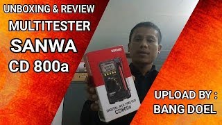MULTITESTER SANWA CD800a REVIEW & UNBOXING