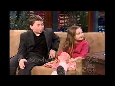 SPENCER & ABIGAIL BRESLIN HAVE FUN WITH LENO