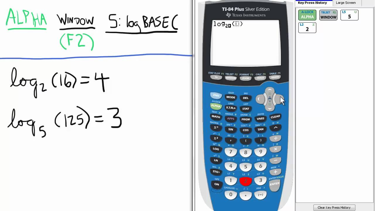 Logs other than base 10 calculator ti 84 calculator logarithms.