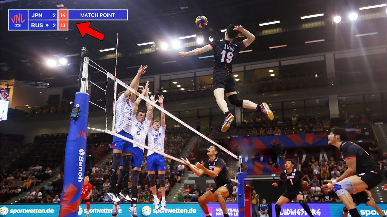 The Most Beautiful Winning Attacks in Volleyball (HD)