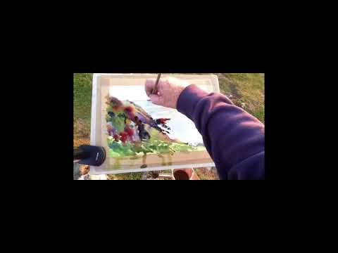 Plein Air Watercolour Painting Demo with Steve PP – Morte Point Sunset