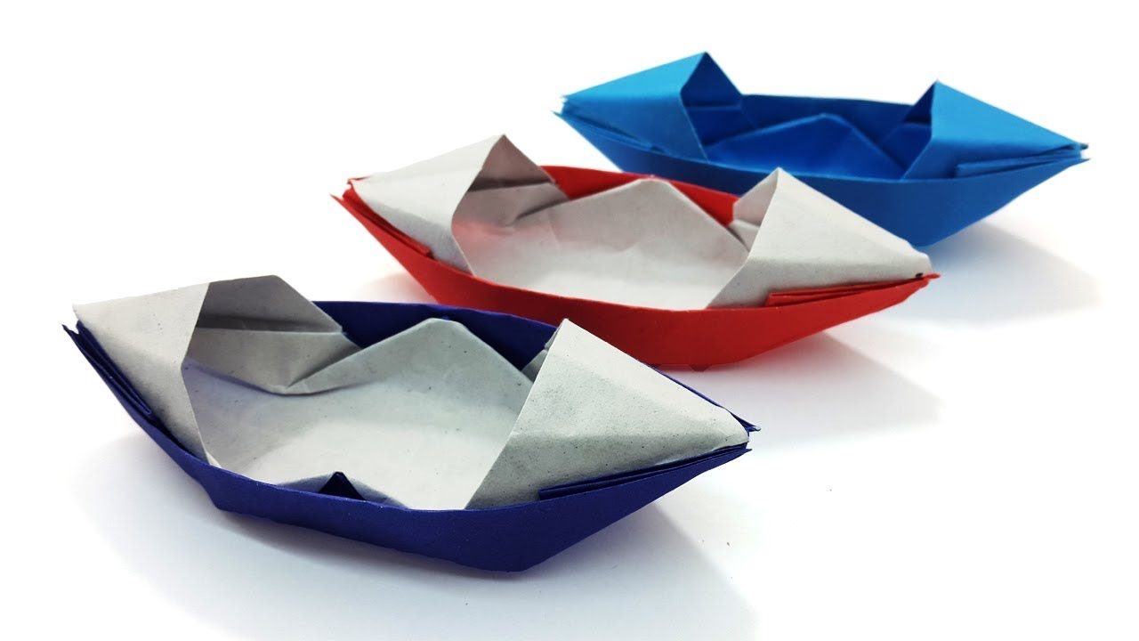 How To Make A Paper Sampan Boat