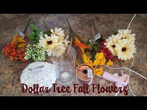 Dollar Tree Fall Floral Arrangement