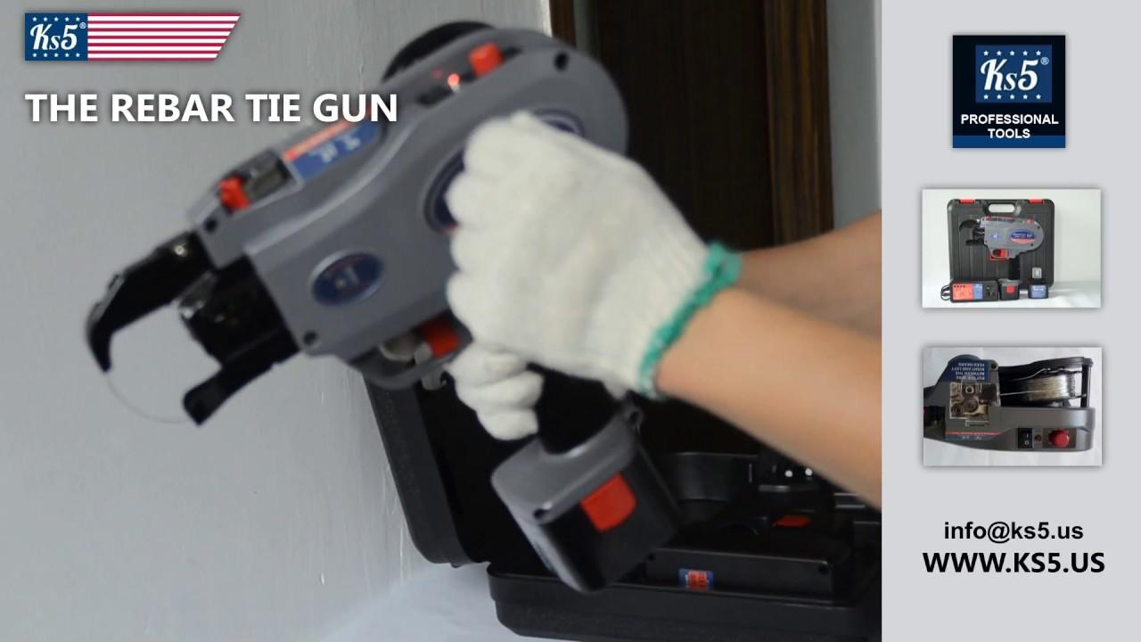 Rebar Tie Gun Ks5 - New Professional System - YouTube