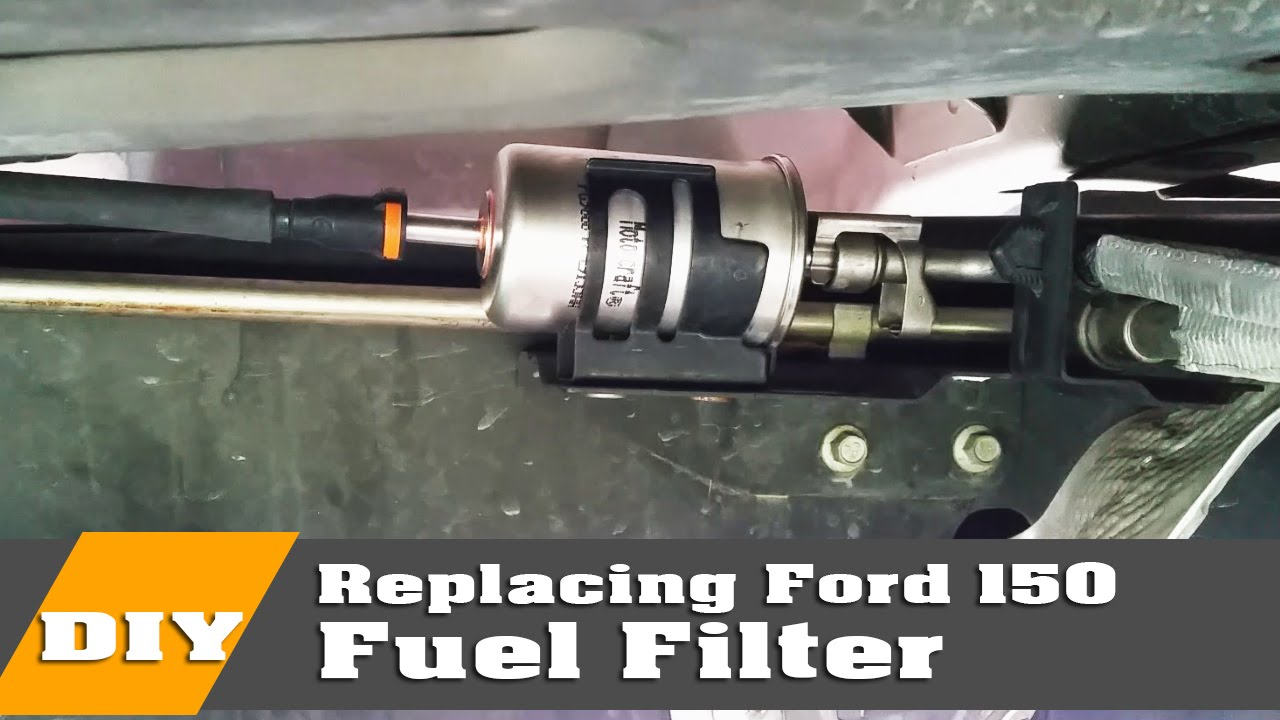 how to change ford f150 fuel filter on 2004 to 08 youtube